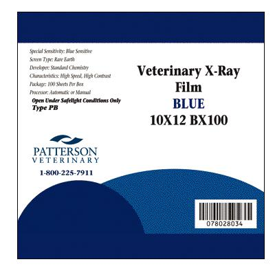 Patterson Veterinary Brand X-ray Film