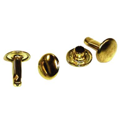 RIVET JIFFY 1/4 SINGLE CAP BRASS 9MM CAP DIA  PK50