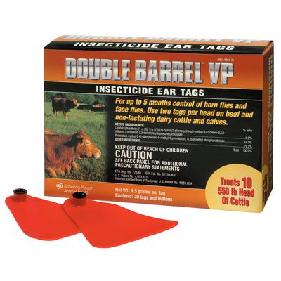 Double Barrel™ VP Insecticide Ear Tags