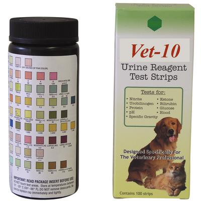 Vet-10 Urine Reagent Test Strips