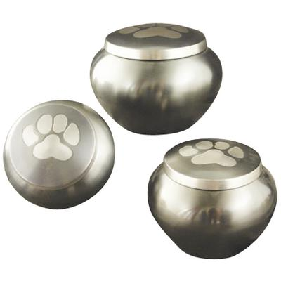 Urn - Single Paw Slate/ Pewter Odyssey
