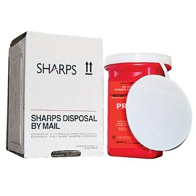 Mail-Away Sharps Containers