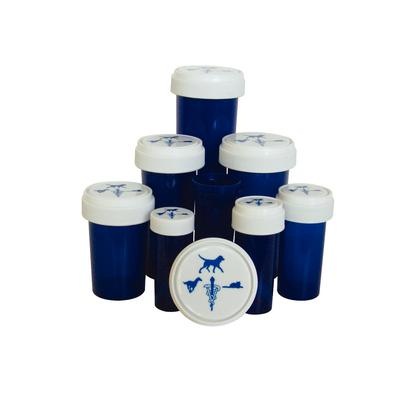 Patterson Veterinary Cobalt Plastic Prescription Vials