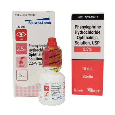 Phenylephrine Ophthalmic Solution 2.5%