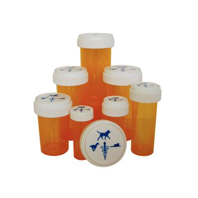Patterson Veterinary Amber Plastic Prescription Vials