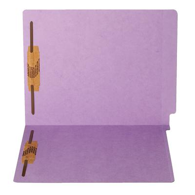 """15-pt Color-Coded End-Tab Folders with Fasteners in Positions 1 & 3, 9-1/2"""" x 12-1/4"""", 50/Box"""