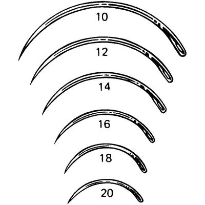 Miltex Regular Surgeon's Needles 3/8 Circle, Taper Point