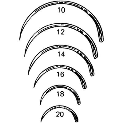 Miltex Regular Surgeon's Needles 1/2 Circle, Taper Point