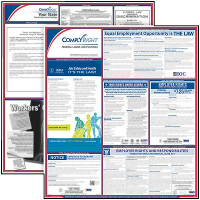 "Federal/State Labor Law Poster Kit, 27"" W x 39"" H"