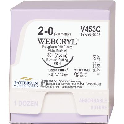 Webcryl™ Cobra Black™ Sutures