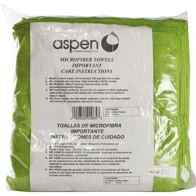 Microfiber Poly Green Towel