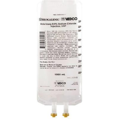 Vedco Veterinary 0.9% Sodium Chloride Injection, USP