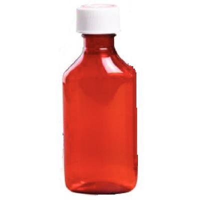 Oval Amber Plastic Bottles