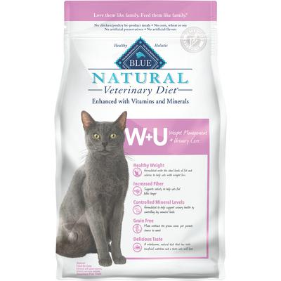 BLUE Natural Veterinary Diet® Feline W+U Weight Management & Urinary Support