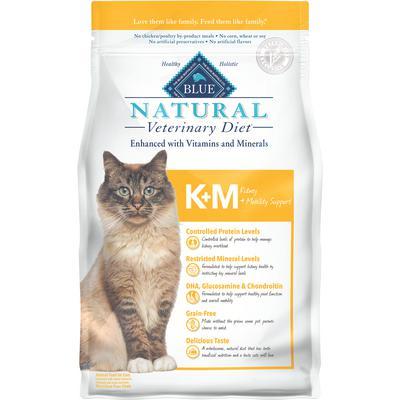 BLUE Natural Veterinary Diet® Feline K+M Kidney & Mobility Support